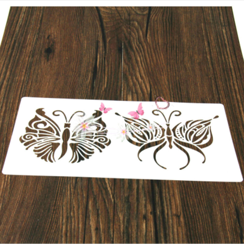 1PC Floral Butterfly Shaped Reusable Stencil Airbrush Painting Art DIY Home Decor Scrap Booking Album Crafts