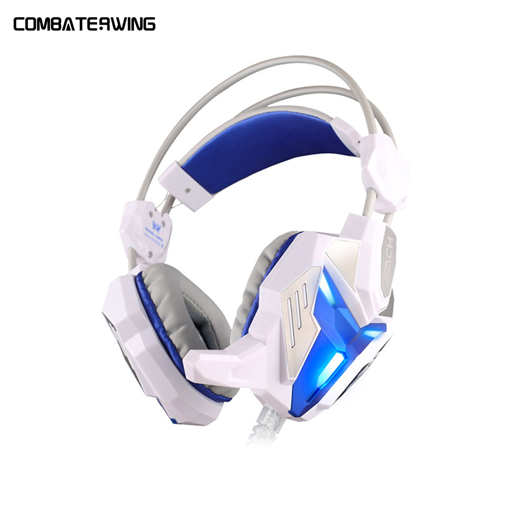 EACH G3100 Vibration Function Pro Gaming Headphone Games Headset Earphone with Mic Stereo Bass LED Light for PC Gamer rock y10 stereo headphone earphone microphone stereo bass wired headset for music computer game with mic