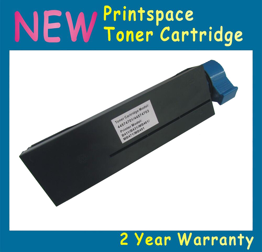 1xNON-OEM  High Capacity Toner Cartridge Compatible  For OKI B411 B431 MB471 MB461 MB491 44574901 44574902 (10000 Pages) drum unit for oki data mb471w for oki mb 491 mfp for okidata mb 491 lp black reset copier cartridge free shipping