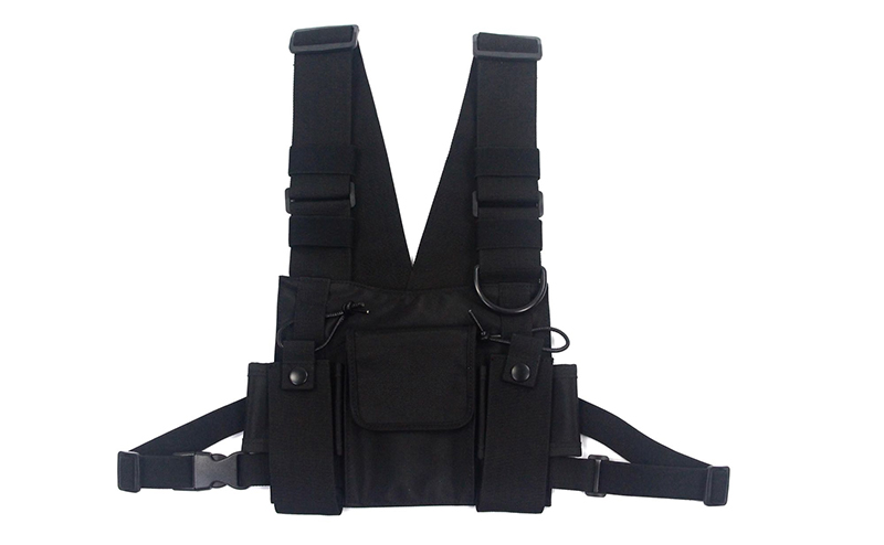HTB1GEerJ3HqK1RjSZFEq6AGMXXan - adjustable Black Vest Hip Hop Streetwear Functional Tactical Harness Chest Rig Kanye West Waist Pack Chest Bag Fashion Nylon c5