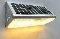 Factory Direct Sale 38 LED 800LM 33FT Microwave Motion Sensor LED Panel Solar Night Lamp Novelty Solar Light & Free Shipping