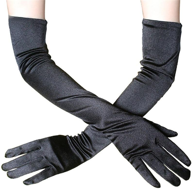 Elegant Long Dress Gloves Satin Fun Wedding Gloves Dinner Performance Gloves Free Size One Pair 33.5x9.5cm 30MY06 (3)