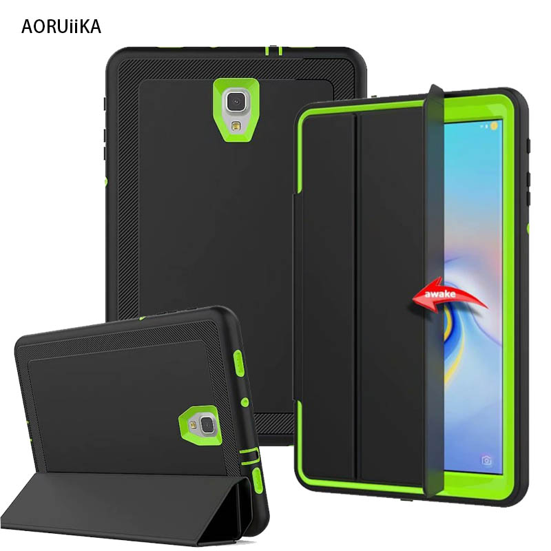 Full-Protection-Case Shockproof SM-T590 T595 Galaxy Samsung Hard-Cover Kickstand PU