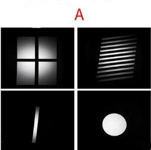 Image 2 - LED kondensator rohr projektion film grafik DIY licht rohr form einfügen OT1 kondensator objektiv hintergrund licht wirkung film NO00DGT07