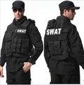 Homem colete tático, colete à prova de balas colete cs colete Molle Tático Preto swat equipamentos de proteção