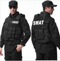 Man's tactical vest ,bulletproof vest Molle Tactical Black vest cs vest swat protective equipment