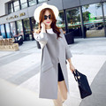 Plus Size Clothes Women Long Trench Coat 2017 Winter Spring Autumn Fashion Slim Was Thin Overcoat Outerwear Tops 6