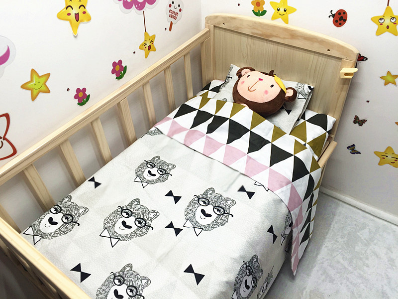 Discount! Many Colors bedding set for baby cot sheets cuna ropa de cuna kit berco,include(Duvet Cover/Sheet/Pillow Cover)