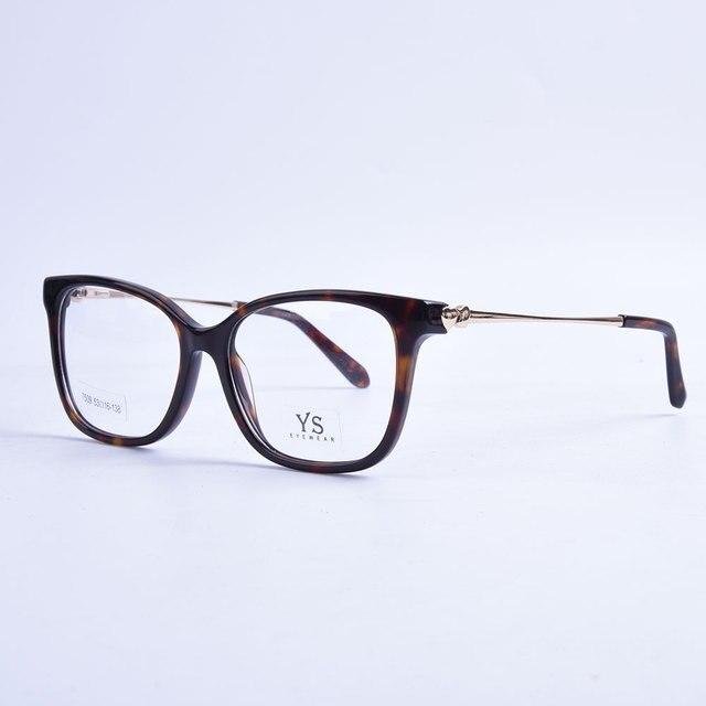 Acetato Unissex óculos de armação Vintage da Moda marca de Alta Qualidade  Full Frame Ótico Óculos 6634593272