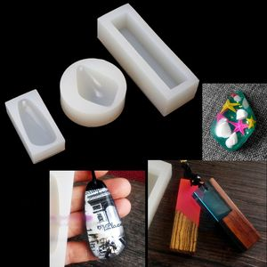 Resin Pendant Silicone Mold DIY Resin Aurora Pendant Charm Making Jewelry Tools