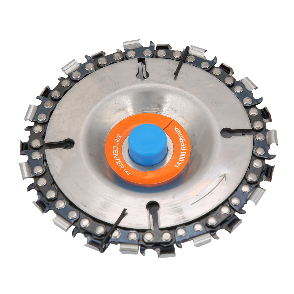 4Inch 22 Tooth Chain Disc Woodworking Chain Wheel For 100/115mm Angle Grinder Wheel Carving For 100 Mm Or 115mm Angle Grinder