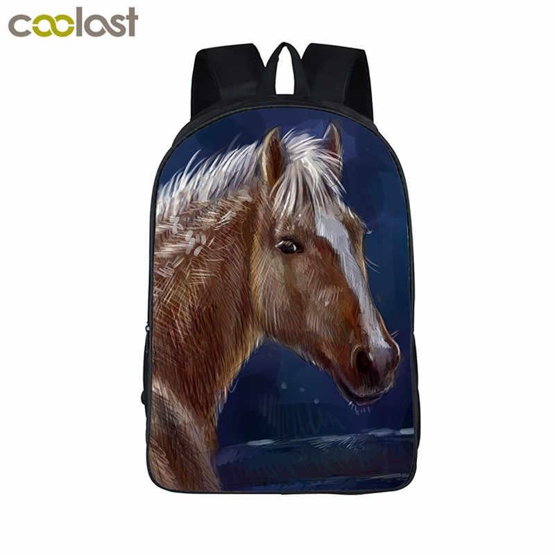 Рюкзак с единорогом для подростков, девочек, мальчиков, мультяшных животных, детские школьные сумки mochilas kawaii, детские рюкзаки с оленем, школьная сумка для лошади