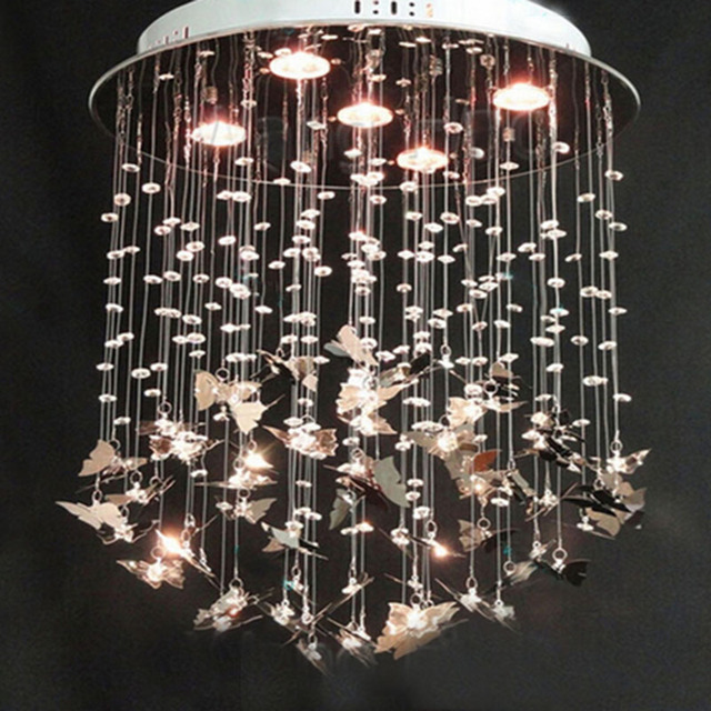 Beautiful alan mizrahi custom made pristine prism crystal dream butterfly chandelier lamp