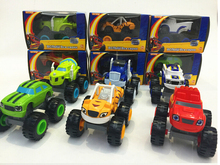 6PCS Cool Blaze Monster Machines Russia blaze miracle cars Kid Toys Vehicle Car Transformation Toys free shipping