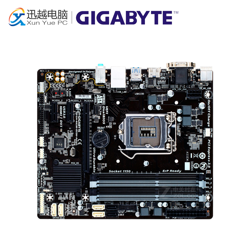 все цены на Gigabyte GA-B85M-DS3H-A Desktop Motherboard B85M-DS3H-A B85 LGA 1150 i3 i5 i7 DDR3 32G Micro-ATX онлайн