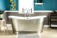 66 CUPC Approval Freestanding Luxury Indoor Bathtub Cast Iron Double Ended Tub Multi Color Custom Built