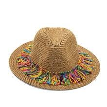 XCZJ Summer Beach Hat Women Panama Straw Caps Wide Brim Visors Casual Hats Lady Brand Hand Made Sun Flat Gorras H095