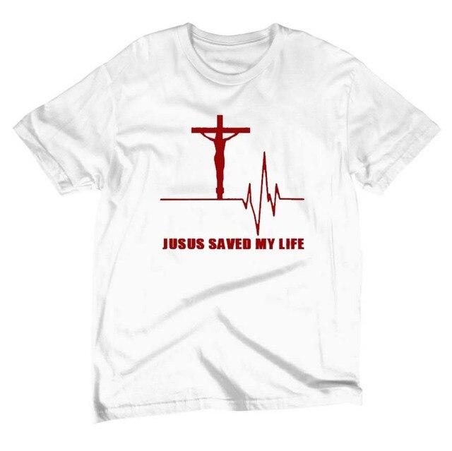 a7ef30a08 Nuevo Jesús salvo mi vida camiseta Salvador Dios religión oración fe  cristiana camisetas algodón ocio manga