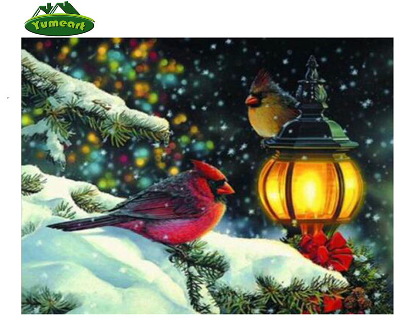 Home Decor Diamond Embroidery Needlework 5d DIY Diamond Drawing Cross Stitch Rhinestones The Bird on The Tree Christmas Gifts