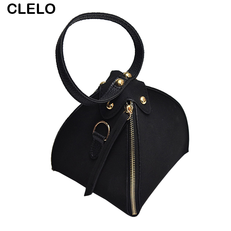 CLELO Fashion Mini Women Bags 2017 Vintage Triangle Crossbody Bags Female PU Leather Messenger Shoulder Bag Purse Ladies Handbag  fun fashion personality disposable leather pu leather chain shoulder bag handbag female crossbody mini messenger bag purse