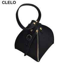 CLELO Fashion Mini Women Bags 2017 Vintage Triangle Crossbody Bags Female PU Leather Messenger Shoulder Bag Purse Ladies Handbag
