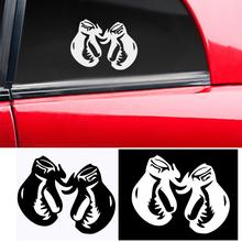 Cool Reflective Boxing Glove Car Truck Body Window Sticker Decal DIY Decoration cool wing style reflective car sticker yellow