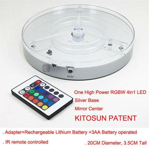 bateria recarregavel operado levou base de luz