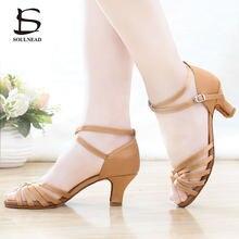 8be79254 Salsa latina zapatos de danza para mujeres niñas Tango zapatos de baile  zapatos de tacón suave