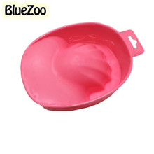 BlueZoo 1pc Nail Hand Wash Remover Soak Bowl Salon Manicure Polish Washing Bowl Tools Soaker Caps Nail Spa Bath Treatment Tools