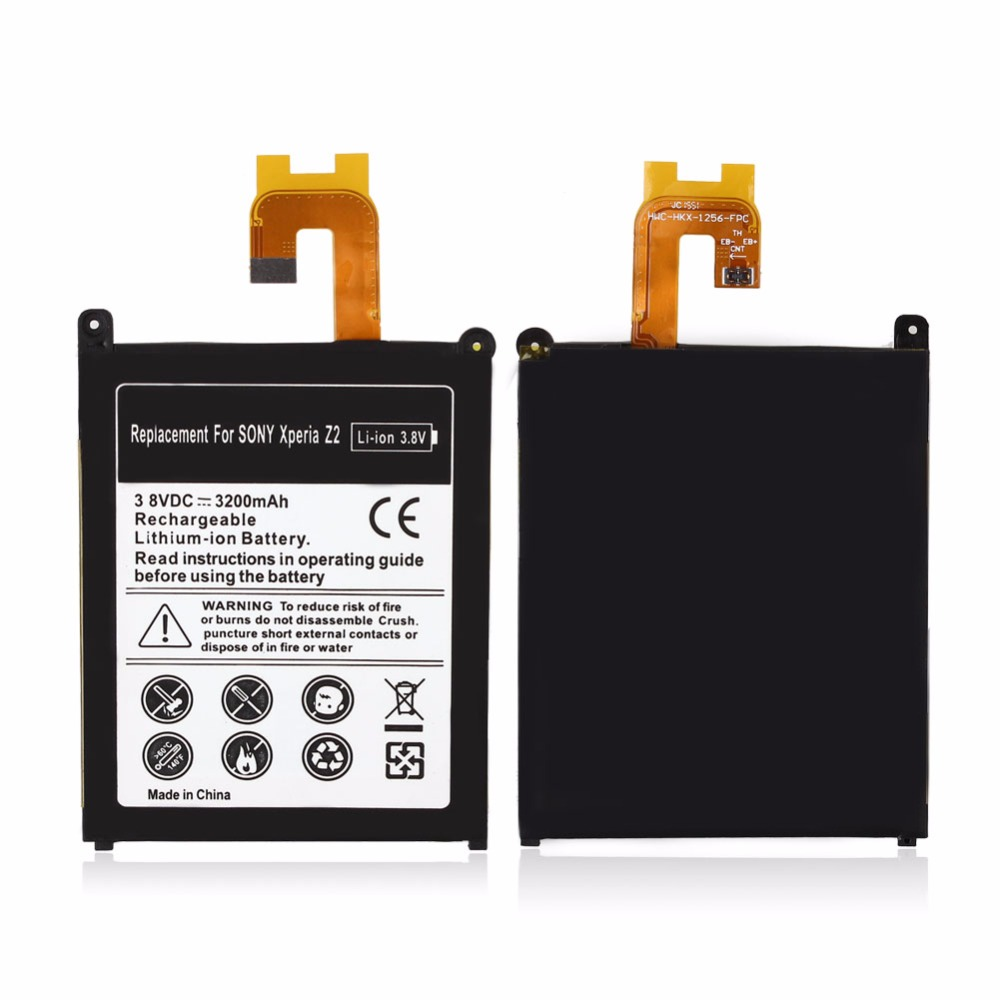 2018 New 3200mAh Rechargeable Lithium Ion Replacement Battery For Sony Xperia Z2 L50t L50w bateria battery