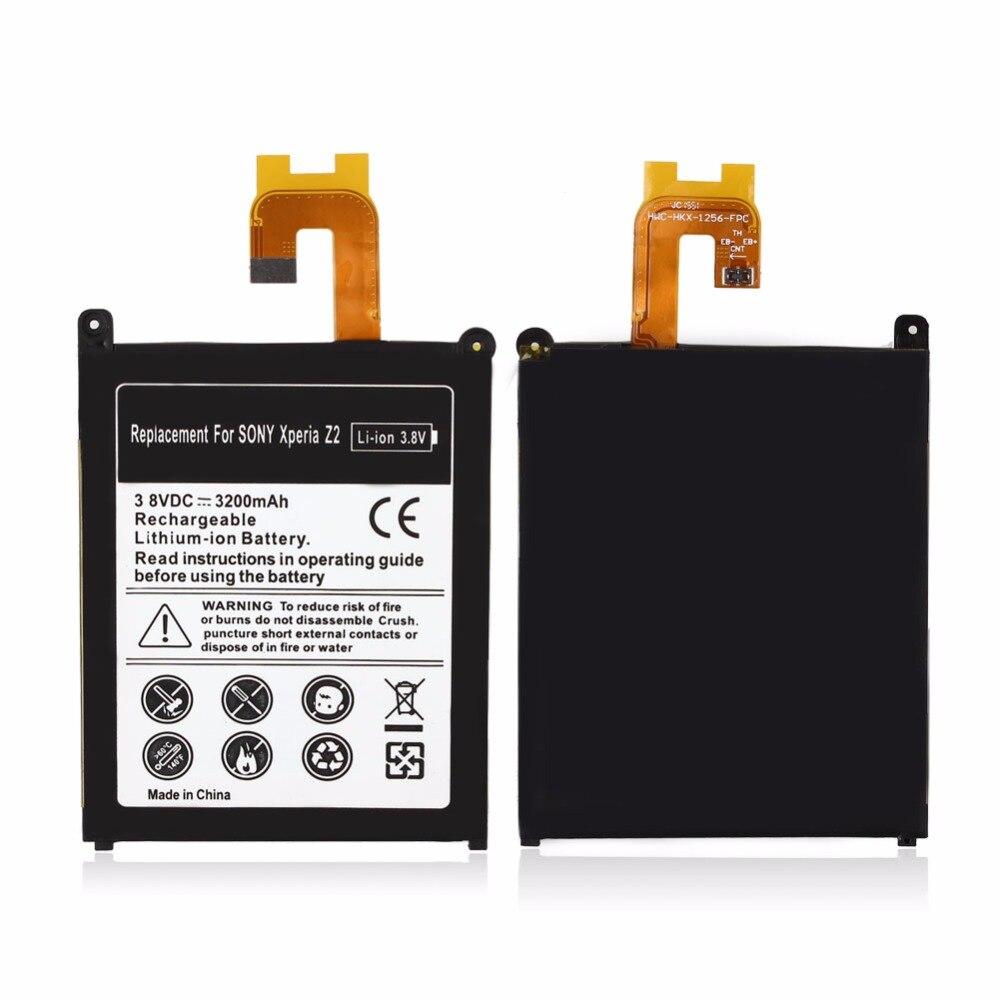 2019 Nova 3200 mAh de Iões de Lítio Recarregável bateria bateria Bateria de Substituição Para Sony Xperia Z2 L50t L50w