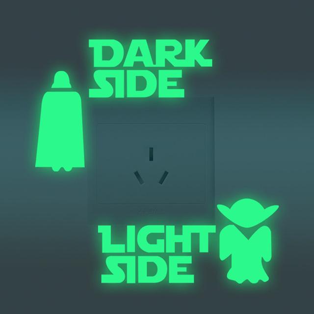 3D Luminous Star Wars Stickers