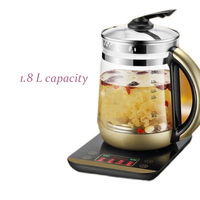 1.8l automatic thickening glass multi function electric kettle flower teapot tea cooker D212