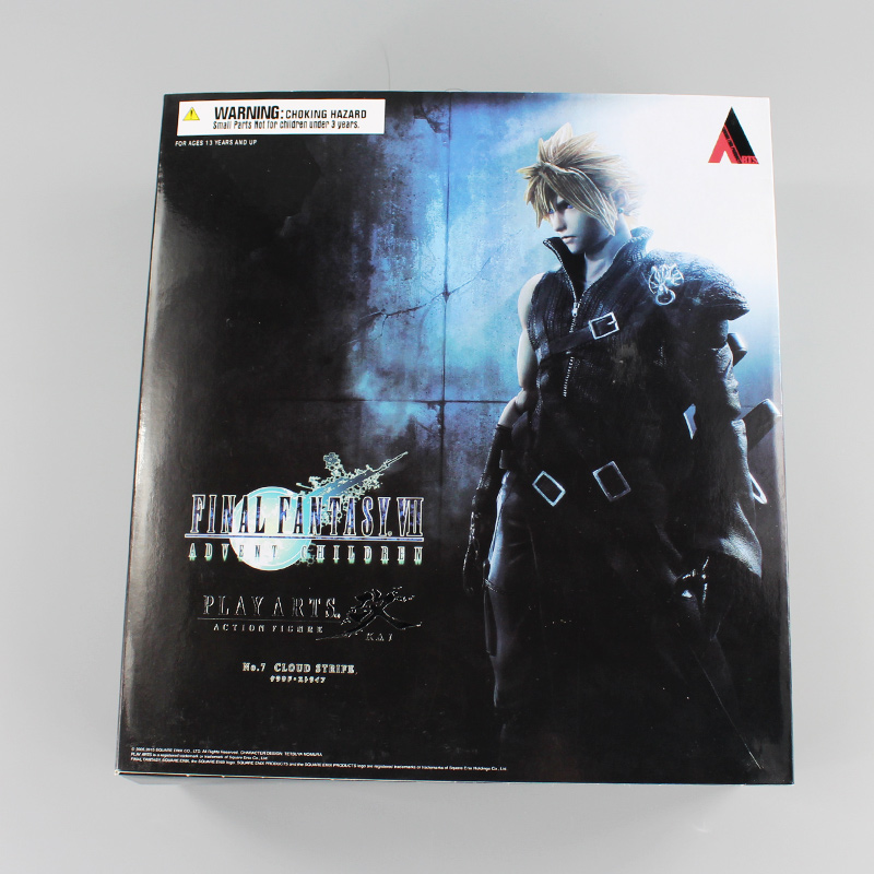 Final Fantasy VII Cloud Strife Playarts KAI Final Fantasy 7 PA Kai Figure Collectible Model Toy with box playarts kai god of war kratos pa kai figure collectible model toy with box