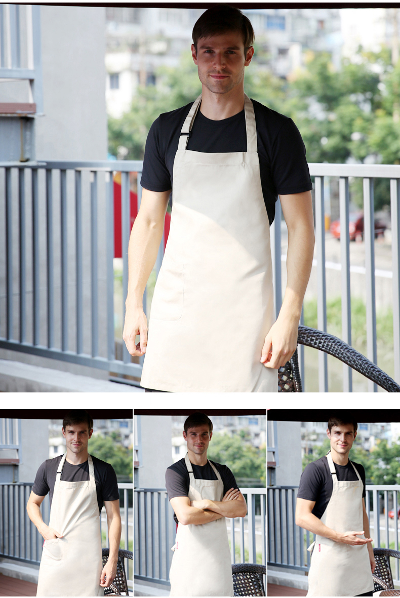 White apron restaurant - Aliexpress Com Buy White Custom Apron Working Uniform With Customized Logo Printing For Coffee Shop Restaurant Uniform From Reliable Uniform Student