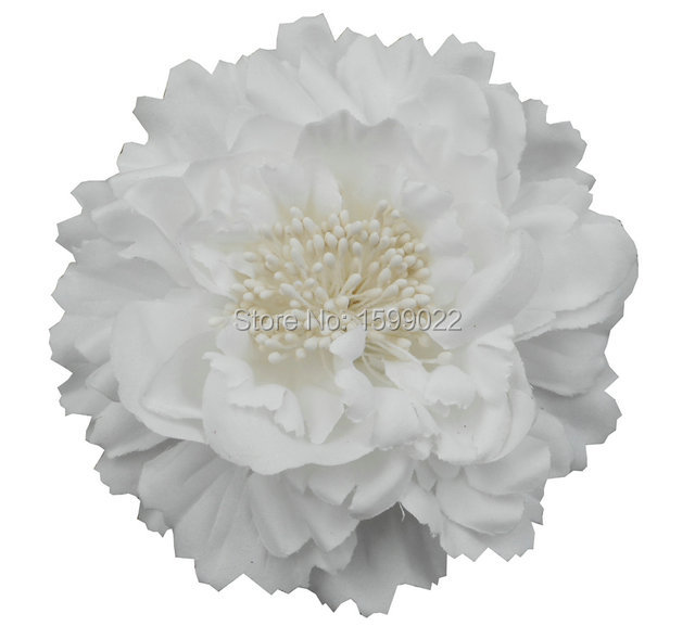 Peony Hair Clips Brooch Pure White Flower Hair Accessories Bride