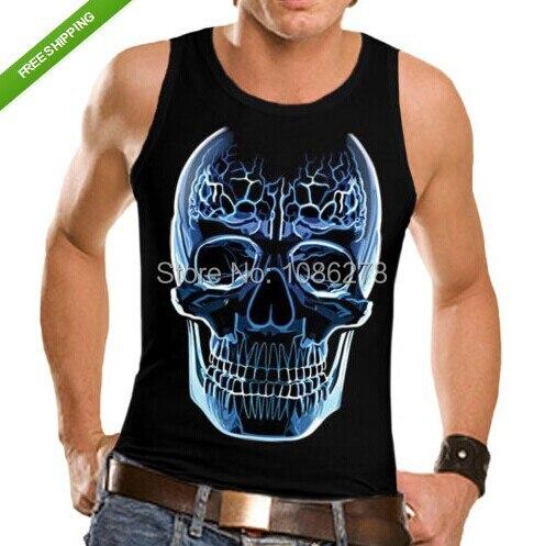 2017 new arrival men/women tank top Crystal Skull New VEST SHIRT T Shirt  Gothic