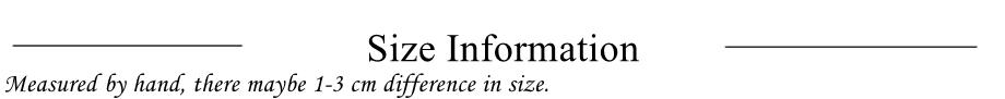 size information_