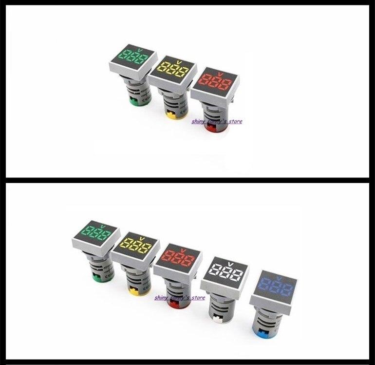 3-5 pcs/Lot Mixed Group of AD101-22VMS 22mm AC20-500V Voltmeter Square Panel LED Digital Indicator Light Brand New hanrun hr911105a diy rj45 network adapters w indicator light silver black 5 pcs