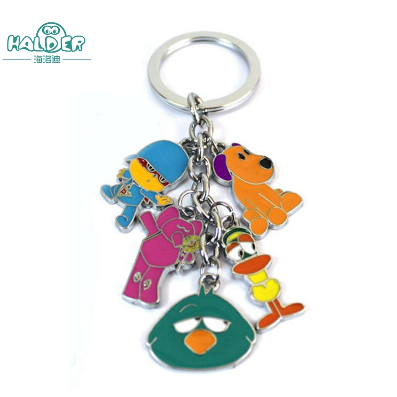 Halder Family Educational Cartoon Animation Pocoyo Key Chains Elly Pato Loula Sleepy Birds Animals Keychains Pendants For Gift ...