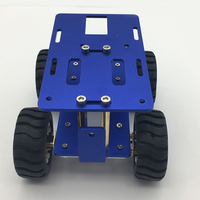 JMT Mini Car Chassis Metal Intelligent RC Aluminum Alloy Tank Car Truck Robot CNC Alloy Body 120*90*65mm