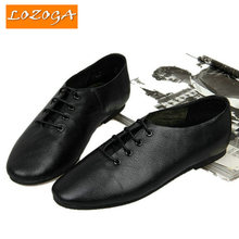 2016 New Men's Shoes Genuine Leather Flats Shoes High Quality Original Brand Lace-up Shoes Basic Summer Shoes Size 38-44