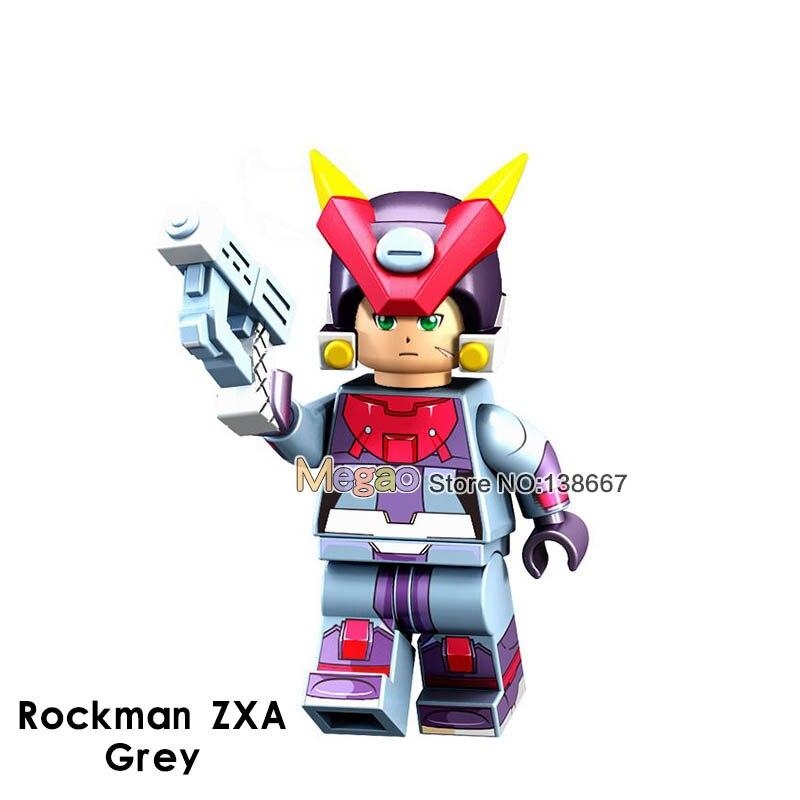Toys & Hobbies Sweet-Tempered Pg8137 Super Heroes Mega Man Yuanzu Rockman Zxa Ax Light Hot Bucket Meteor Action Figures Building Blocks For Children Toys Bright Luster