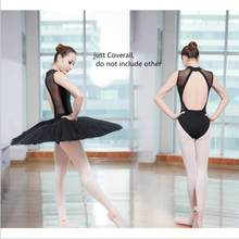High Quality Adult Gymnastics Leotard Black Ballet Leotards for Women Backless Dance Clothing Ballet Bodysuit(China)