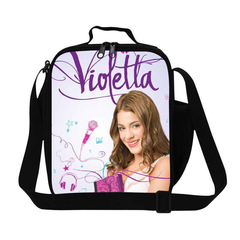 Violetta Girl Lunch Bag Thermal Bags Picnic Lunchbox Children Cartoon Lunch Box for Kids