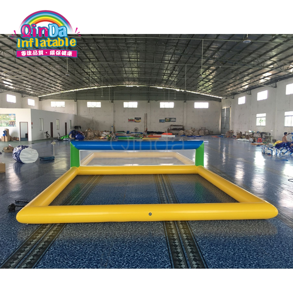 32.8*16.4*3.9ft Inflatable aqua beach volleyball court with air pump giant inflatable aqua sports volleyball game inflatable beach volleyball court for kids and adults