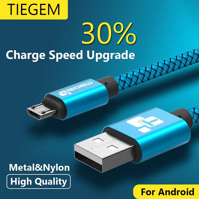Micro USB кабель 2A 1 м быстрой зарядки нейлон USB синхронизация данных мобильного телефона Android адаптер Зарядное устройство кабель для Samsung sony HTC lg ...