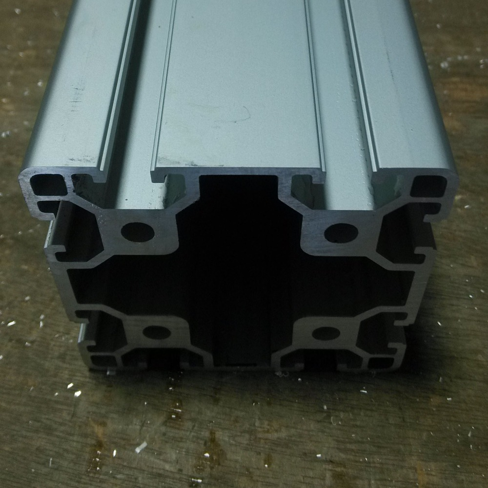 <font><b>8080</b></font> Aluminum Profile For CNC Router Aluminium Frame <font><b>Extrusion</b></font> Profile Free Cutting Device Equipment Construction CNC image