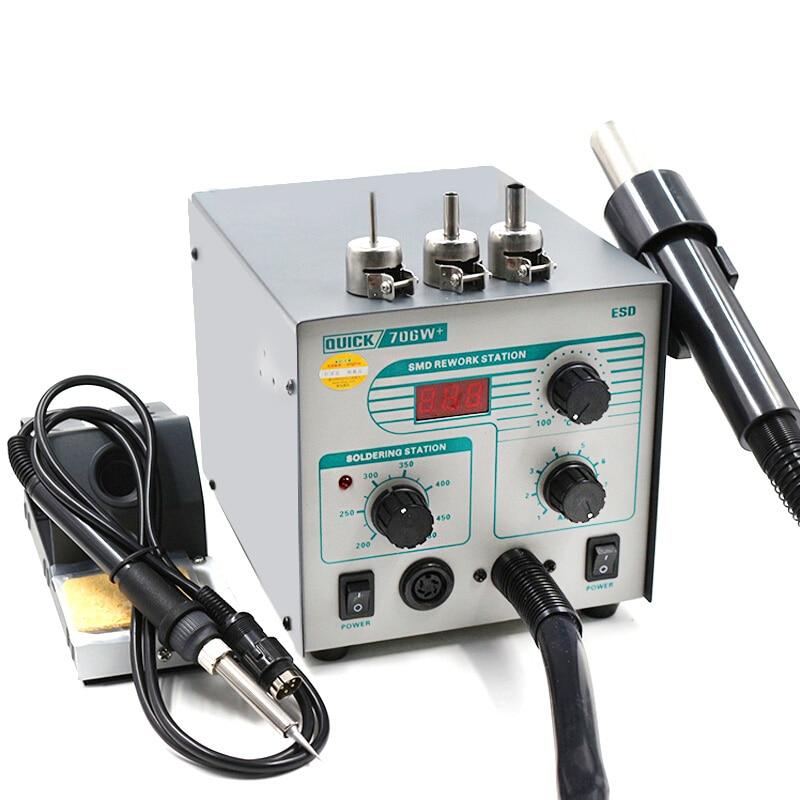 2 In 1 Original Quick 706W+ SMD BGA Rework Station Hot Air Gun Desoldering Station for Phone Repair Welding Tool