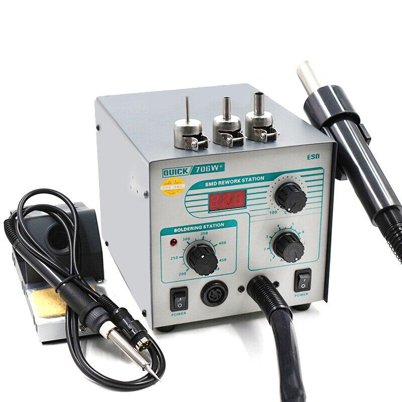 2 em 1 original rápido 706 w + smd bga estação de retrabalho pistola ar quente desoldering estação para reparação do telefone ferramenta de solda